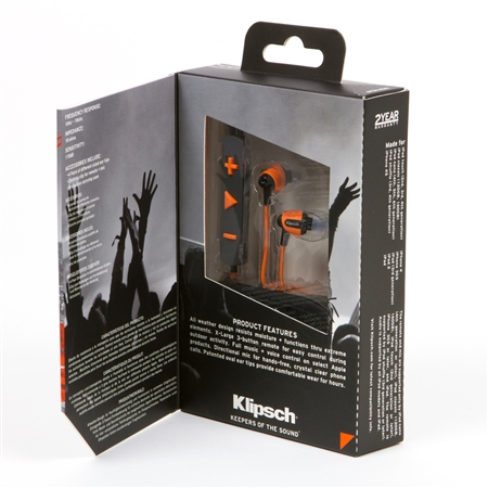 Klipsch Image S4i Rugged Orange In-Ear Headphones