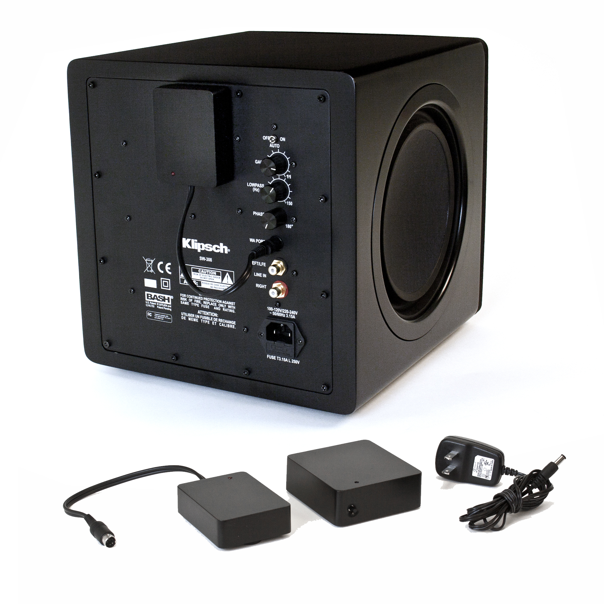 wa 2 wireless subwoofer kit high quality home audio by klipsch. Black Bedroom Furniture Sets. Home Design Ideas